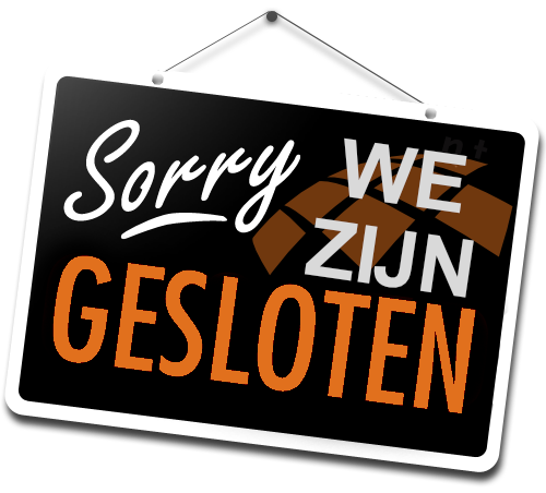 Gesloten/Closed!